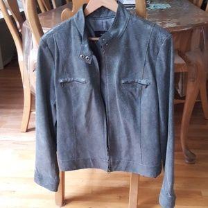 Snakeskin Leather Jacket